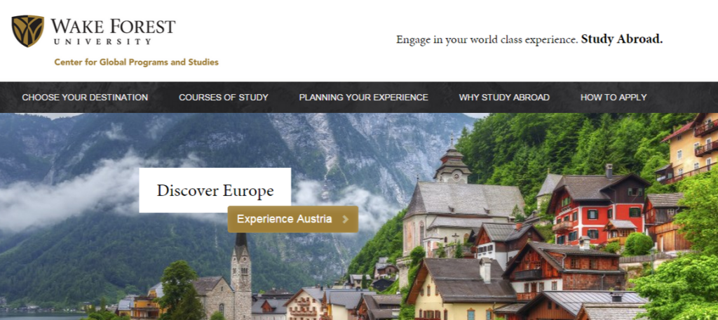 WFU Study Abroad Center for Global Programs and Studies