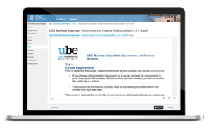 UNC Business Essentials LMS After Migration