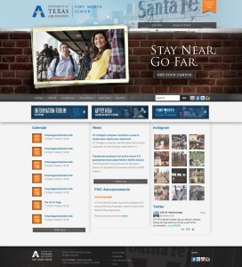 University of Texas Arlington Website with Clear Calls to Action